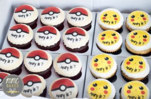mmc bakes, custom cakes, san diego, chula vista, pokemon cupcakes, poke ball cupcakes, edible image, cupcakes, 7th birthday,