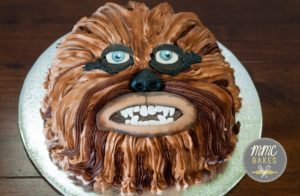 mmc bakes, custom cakes, san diego, chula vista, chewbacca cake, star wars cake, buttercream, chocolate cake, birthday cake, smash cake