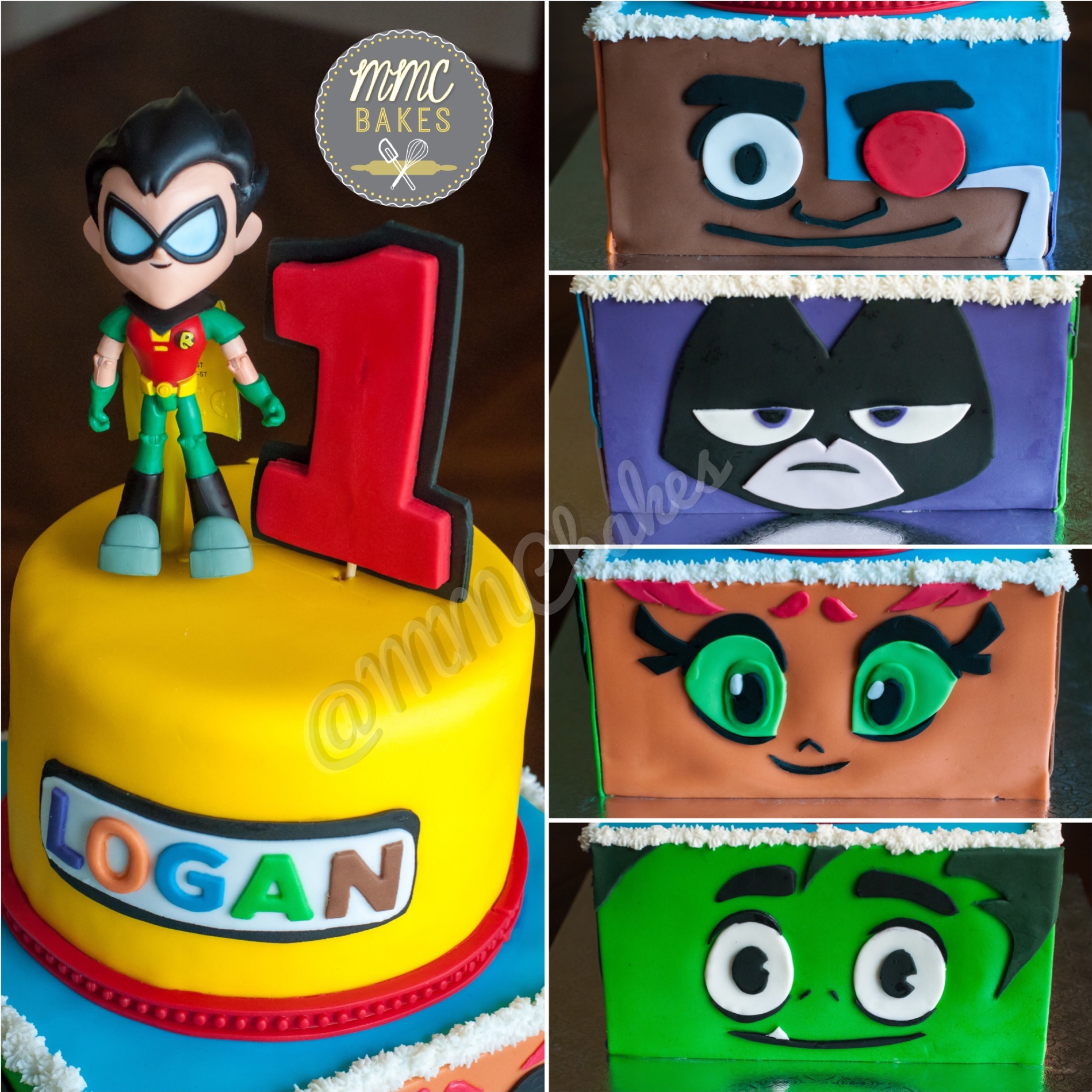 Birthday Cake Teen Titans
