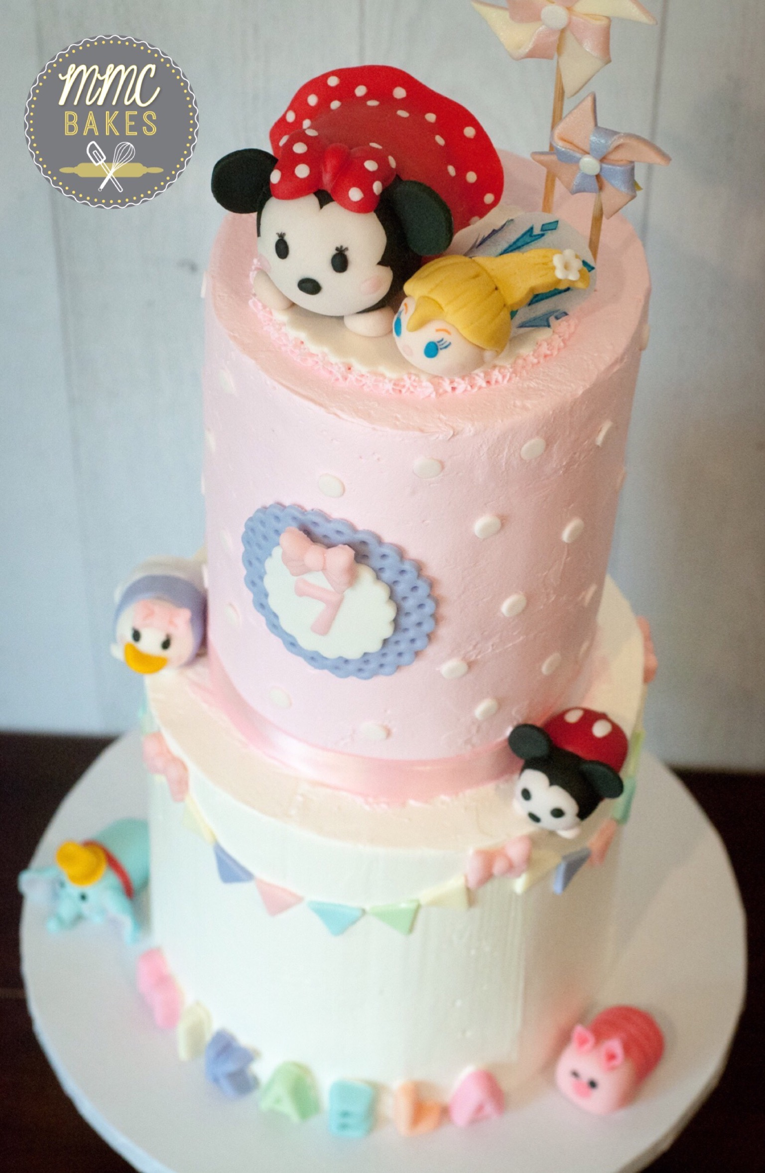 Tsum Tsum Birthday Cake With Fondant Sculptures Mmc Bakes