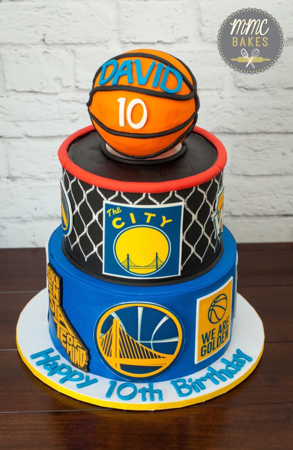 golden state warriors cake, basketball cake, warriors cake, golden state warriors cake, the city cake, golden state of mind cake, san diego, chula vista, custom cakes, fondant, edible images, MMC bakes,