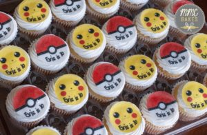pokemon cupcakes, mini cupcakes, mmc bakes, san diego, chula vista, pokeball, pikachu, pokemon birthday