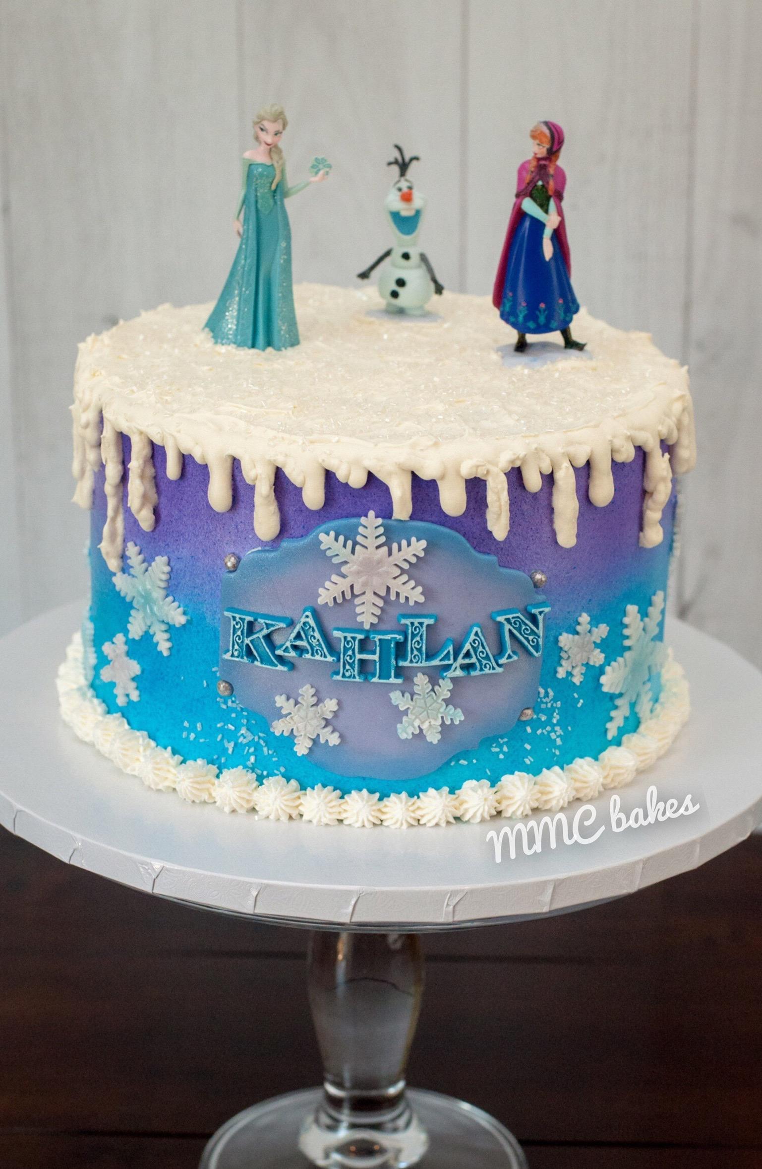 Frozen Birthday Cake Mmc Bakes