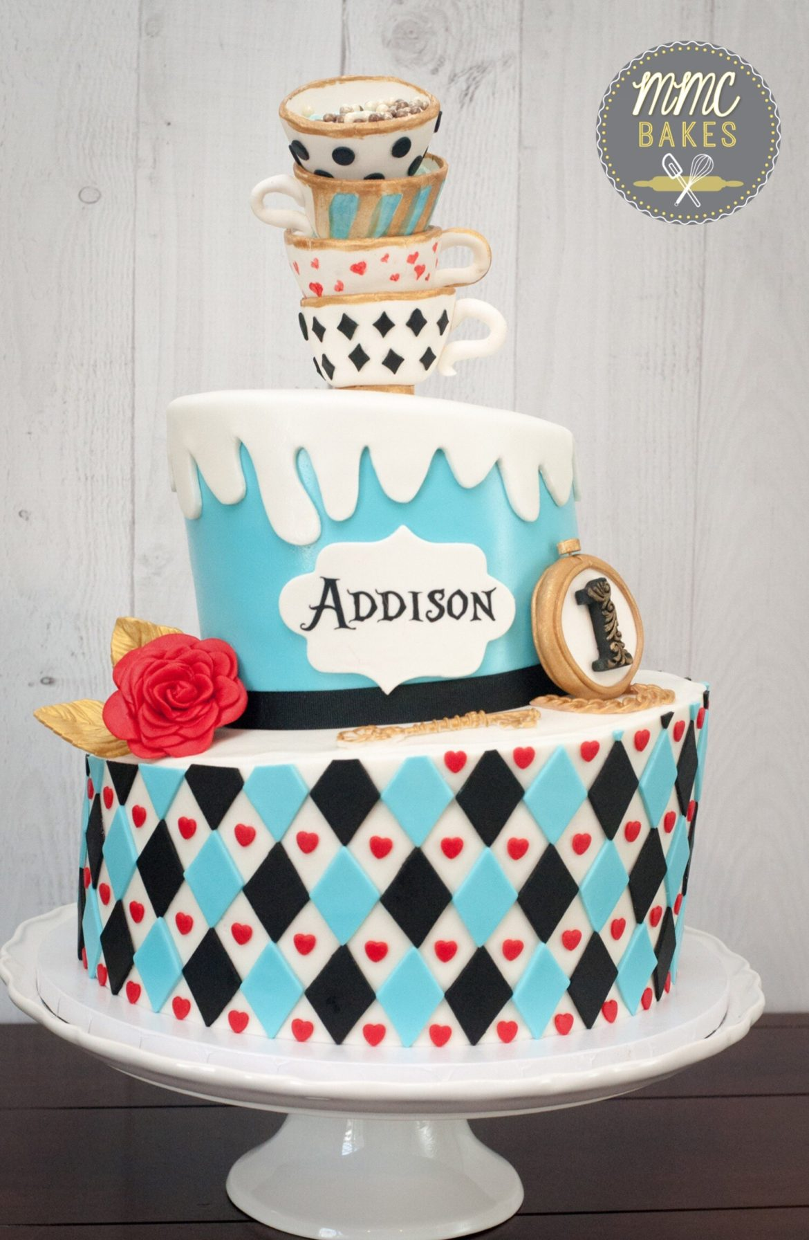 Astonishing Alice In Wonderland Cake Mmc Bakes Personalised Birthday Cards Cominlily Jamesorg